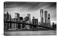 Brooklyn Bridge and trade centre, Canvas Print