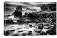 Elgol and the black Cullin, Canvas Print