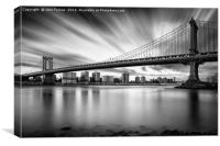 The Manhattan Bridge, Canvas Print