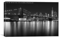 Brooklyn bridge and Lower Manhattan , Canvas Print