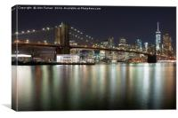 Brooklyn bridge and Lower Manhattan, Canvas Print
