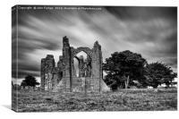 Lindisfarne Priory, Canvas Print