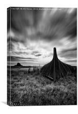 Lindisfarne Boat Shed, Canvas Print