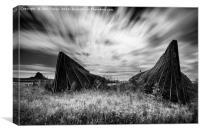 Lindisfarne Boat Sheds, Canvas Print