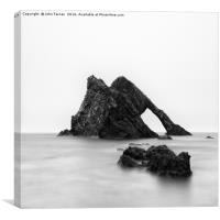 Bow Fiddle Rock square format, Canvas Print