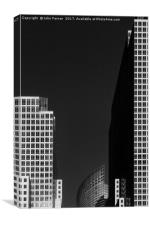 Lower Manhattan abstract, Canvas Print