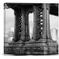 One World Trade Center thru the Manhattan Bridge, Canvas Print