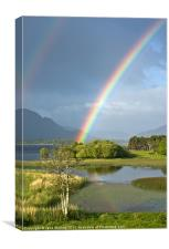 Irish Rainbow, Lower Lake, Killarney, Canvas Print