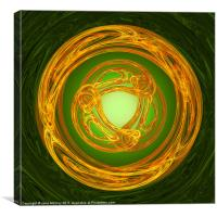 Celtic Abstract on Green, Canvas Print