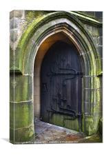 Open Church Door, Canvas Print