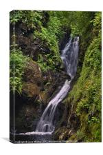 Glenariff Waterfall, Antrim, Northern Ireland, Canvas Print