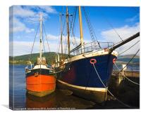 Inverary Harbour, Loch Fyne, Scotland, Canvas Print