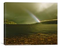 Rainbow on Loch Fyne, Scotland, Canvas Print