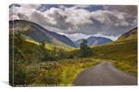 Glen Etive, Highlands of Scotland, Canvas Print