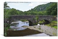 River Dwyryd Bridge, Canvas Print
