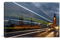 Bus PastThe Houses of Parliament Big Ben, Canvas Print
