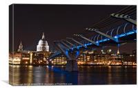 Bridge to St Pauls, Canvas Print