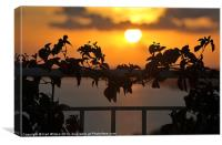 Heart Sunset, Canvas Print