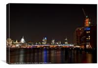 St Pauls Cathedral & OXO, Canvas Print