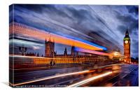 Moving past Parliament, Canvas Print