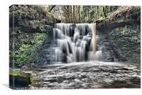 The beautiful Goit Stock Waterfall, Canvas Print