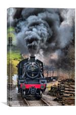 78019 Steam Train In Motion, Canvas Print