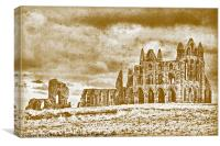 Old Whitby Abbey, Canvas Print