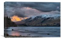 Sunrise Over Ullswater, Canvas Print