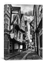 Black & White York Shambles, Canvas Print