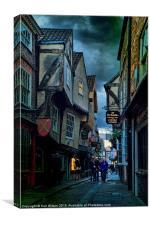York Shambles Visitors, Canvas Print