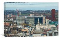 Leeds City Landmarks, Canvas Print