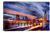 London Embossed Parliament, Canvas Print
