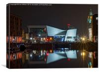 Liverpool Museum @ Night, Canvas Print