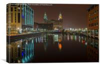 The Liver Building Liverpool, Canvas Print