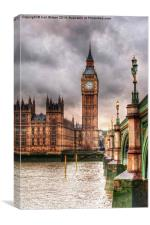 Big Ben over The Thames, Canvas Print