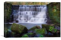Waterfall The Hollies - Meanwood, Canvas Print