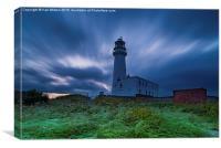 Flamborough Lighthouse at sunset, Canvas Print