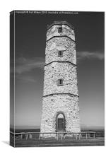 Flamborough Old Lighthouse Black & White, Canvas Print