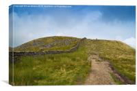 The decent of Whernside, Canvas Print