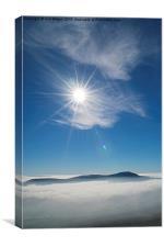 Ingleborough Inversion - Portrait, Canvas Print