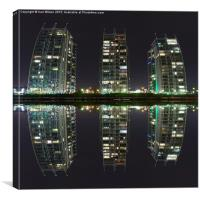 NV buildings Salford Quays, Canvas Print