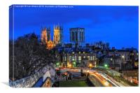 York Minster at night HDR, Canvas Print