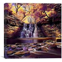 Goit Stock Waterfall Art, Canvas Print