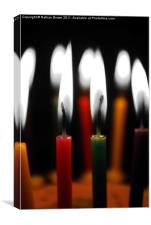Candles Abstract, Canvas Print