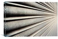 Roller Shutter Abstract, Canvas Print