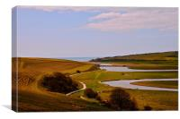 seven sisters sussex, Canvas Print