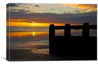 November coastal sunset, Canvas Print