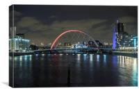Squinty Bridge Glasgow, Canvas Print