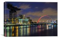 Squinty Bridge /Finnieston Crane, Canvas Print