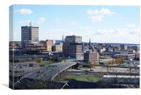 Our Beautiful City of Uptown Saint John, Canvas Print